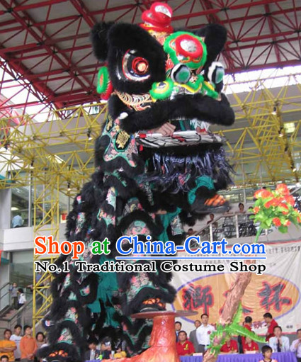 Ancient Style Celebration Parade and Competition Lion Dancing Costumes Complete Set