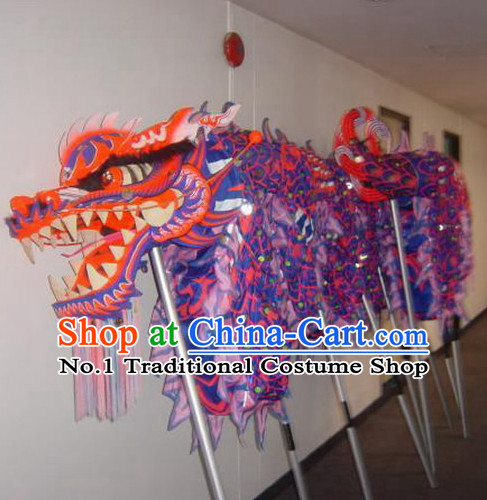 Handmade Luminous Grand Opening Professional Competition and Festival Celebration Dragon Costumes Complete Set