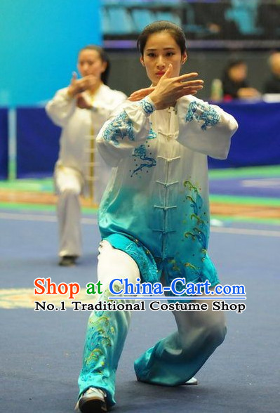 Top Color Change Tai Chi Yoga Clothing Yoga Wear Yang Tai Chi Quan Kung Fu Contest Uniforms for Women