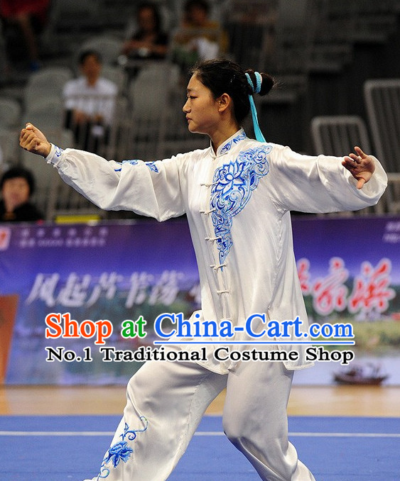 Top Tai Chi Qi Gong Yoga Clothing Yoga Wear Yoga Pants Yang Tai Chi Quan Competition Uniform for Women