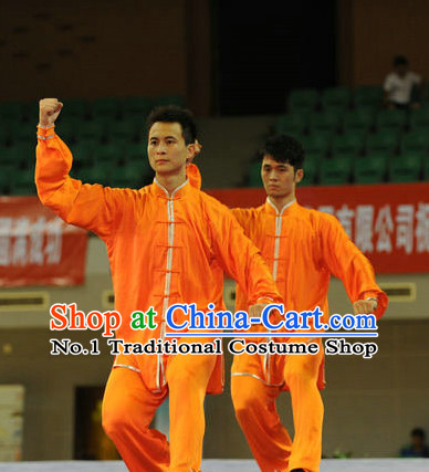 Top Orange Color Tai Chi Yoga Clothing Yoga Wear Yang Tai Chi Quan Kung Fu Practice Uniform for Men