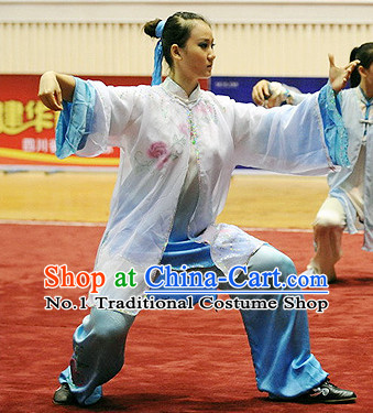 Top Tai Chi Yoga Clothing Yoga Wear Yang Tai Chi Quan Kung Fu Pants Bluose Mantle Uniforms for Women