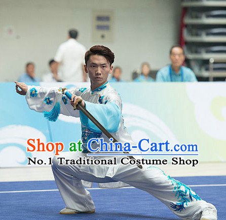 Top Martial Arts Uniforms Martial Arts Supplies Kung Fu Swords Sword Competition Uniforms for Men