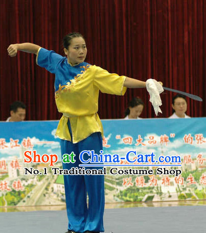 Top Kung Fu Costume Martial Arts Broadswords Combat Costumes Kickboxing Equipment Krav Maga Macho Apparel Karate Clothes Complete Set for Women