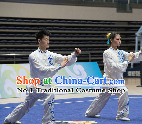 Top Tai Chi Costumes Taijiquan Costume Aikido Chikung Tichi Uniforms Quigong Uniform Thaichi Martial Art Qi Gong Combat Clothing Competition Uniforms for Women or Men