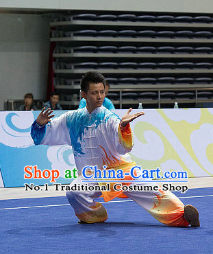 Top Championship Tai Chi Costumes Taijiquan Costume Aikido Chikung Tichi Uniforms Quigong Uniform Thaichi Martial Art Qi Gong Combat Clothing Competition Uniforms for Men