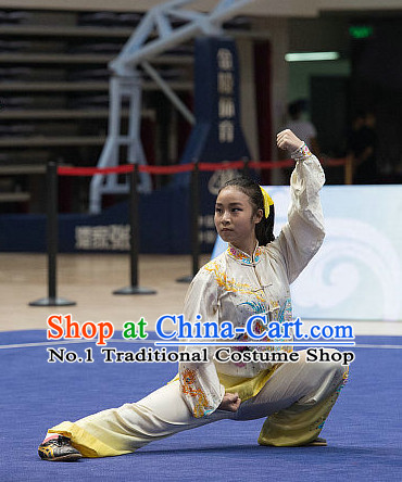 Top Dragon Embroidery Tai Chi Costumes Taijiquan Costume Aikido Chikung Tichi Uniforms Quigong Uniform Thaichi Martial Arts Qi Gong Combat Clothing Competition Suit for Women