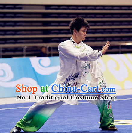 Top Tai Chi Swords Championship Dragon Costumes Taijiquan Uniforms Quigong Uniform Thaichi Martial Arts Qi Gong Kung Fu Combat Clothing Competition Clothes for Men