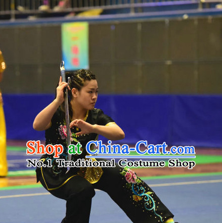 Top Kung Fu Broadsword Uniforms Martial Arts Training Uniform Gongfu Clothing Wing Chun Costume Shaolin Clothes Karate Suit for Women
