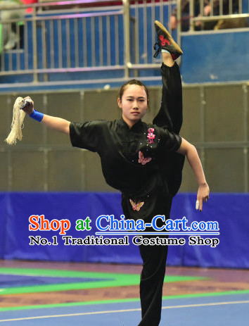Top Chinese Wushu Kung Fu Sword Uniforms Kungfu Uniform Martial Arts Competition Costumes for Women