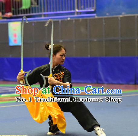 Top Chinese Wushu Double Fork Kung Fu Sword Uniforms Kungfu Uniform Martial Arts Competition Costumes for Women