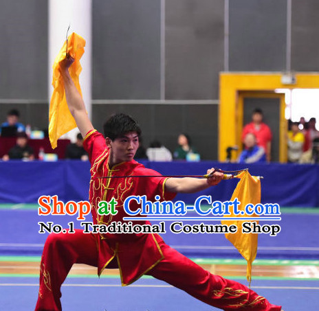 Top Chinese Kung Fu Costume Kung Fu Combat Costumes Wing Chun Karate Uniform Kung Fu Competition Suit Martial Arts Costumes for Men