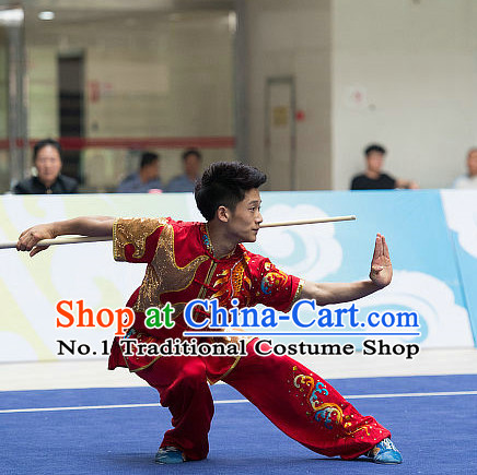 Top Chinese Kung Fu Sword Uniforms Competition Costumes for Men