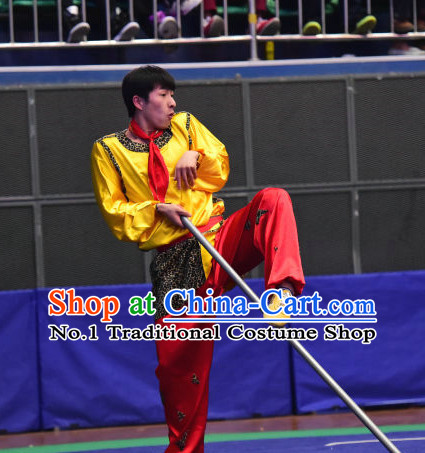 Top Chinese Monkey Boxing Kung Fu Stick Wooden Dummy Hung Gar Taekwondo Gear Taekwondo Equipment Kung Fu Moves Chinese Kungfu Costume Wing Chun Costumes Competition Uniforms