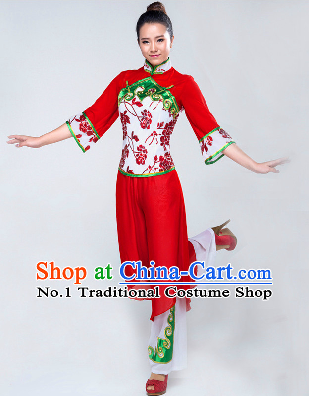 Traditional Chinese Han Ethnic Dance Costume Complete Set for Women