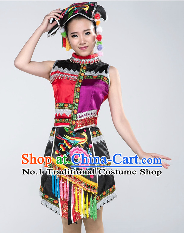 Traditional Chinese Ethnic Costume Complete Set for Women