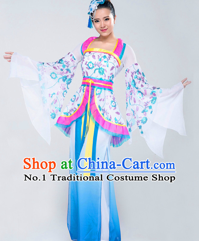 Traditional Chinese Classical Dancing Suits Complete Set for Women