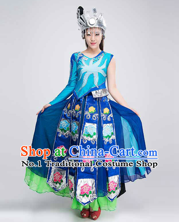 Traditional Chinese Minority Dance Costumes for Competition