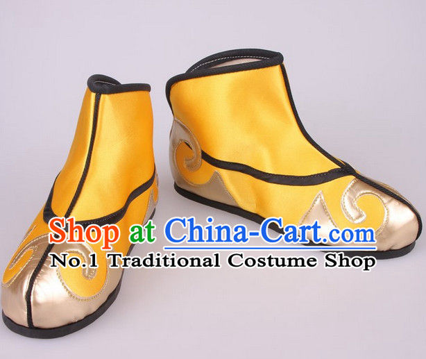 Chinese Beijing Opera Emperor Shoes for Men