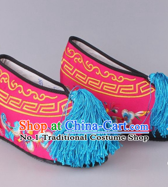 Chinese Beijing Opera Hua Dan Hua Tan Shoes for Women