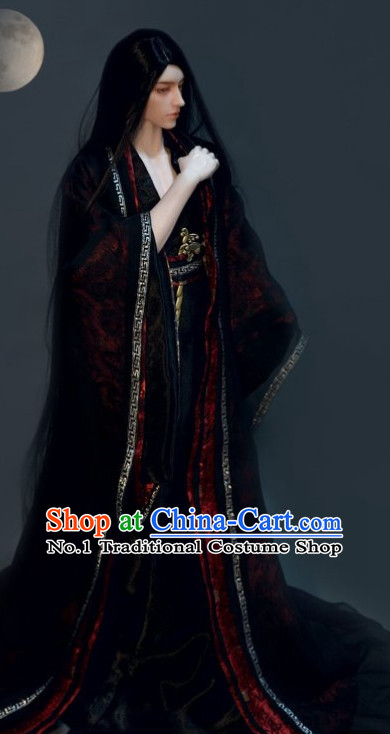 Black Chinese Hanfu Clothes for Men