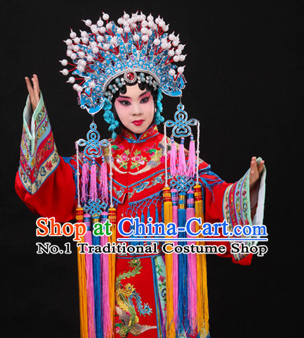 Asian Fashion China Traditional Chinese Dress Ancient Chinese Clothing Chinese Traditional Wear Chinese Wedding Costumes and Phoenix Coronet for Kids