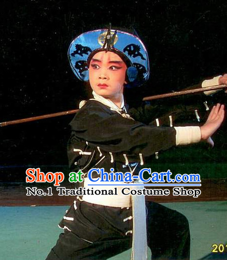 Asian Fashion China Traditional Chinese Dress Ancient Chinese Clothing Chinese Traditional Wear Chinese Opera Wu Sheng Costumes and Hat for Kids