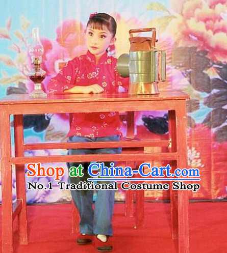 Asian Fashion China Traditional Chinese Dress Ancient Chinese Clothing Chinese Traditional Wear Chinese Opera Red Lantern Costumes for Kids