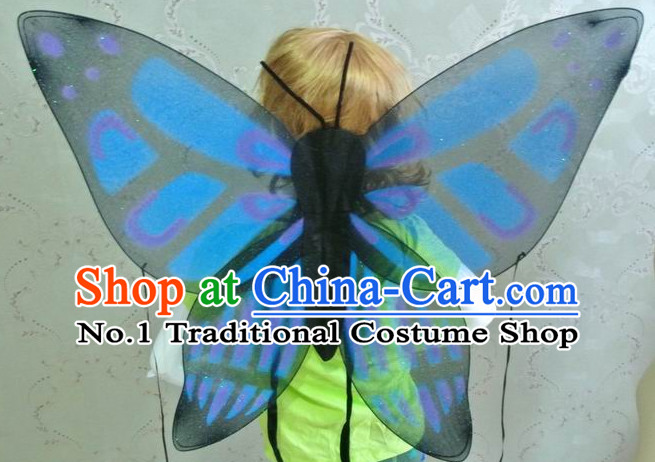 Chinese Traditional Butterfly Wings Costumes for Kids