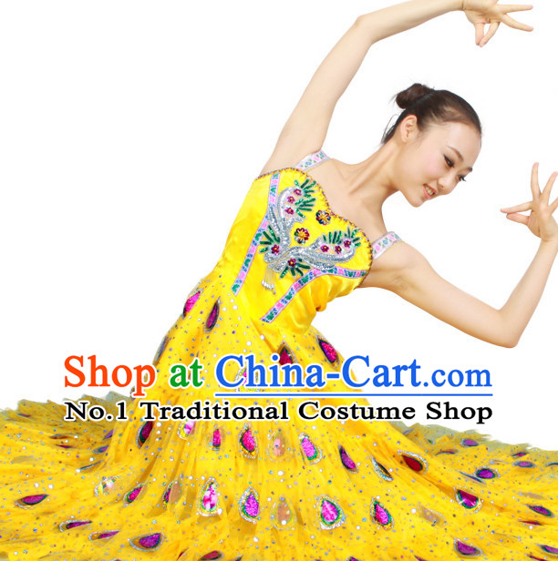 Asian Fashion China Dance Apparel Dance Stores Dance Supply Discount Chinese Peacock Dance Costumes for Women