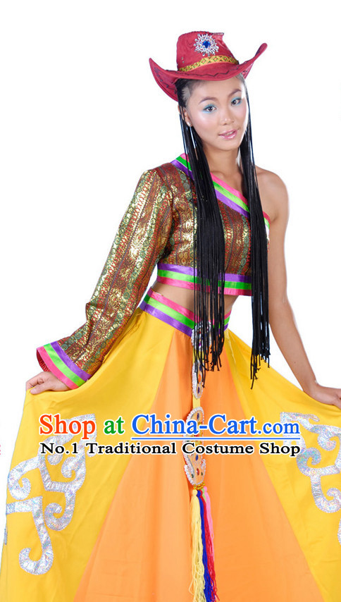 Asian Fashion China Dance Apparel Dance Stores Dance Supply Discount Chinese Tibetan Dance Costumes for Women