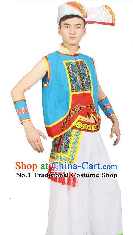 Asian Fashion China Dance Apparel Dance Stores Dance Supply Discount Chinese Ethnic Dance Costumes for Men