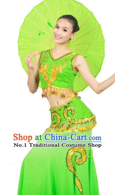 Asian Fashion China Dance Apparel Dance Stores Dance Supply Discount Chinese Umbrella Dance Costumes for Women