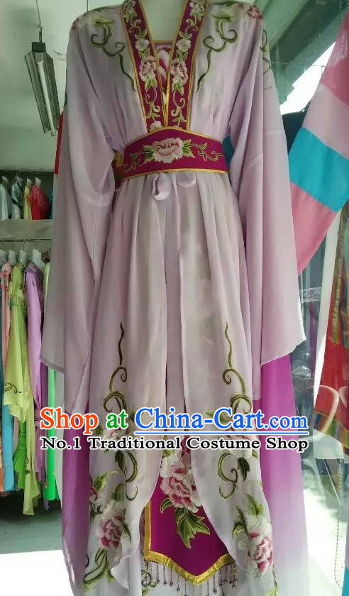 Asian Chinese Traditional Dress Theatrical Costumes Ancient Chinese Clothing Chinese Attire Mandarin Opera Water Sleeve Costumes
