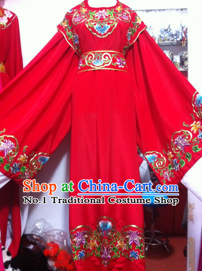 Asian Chinese Traditional Wedding Dress Theatrical Costumes Ancient Chinese Bridal Clothing