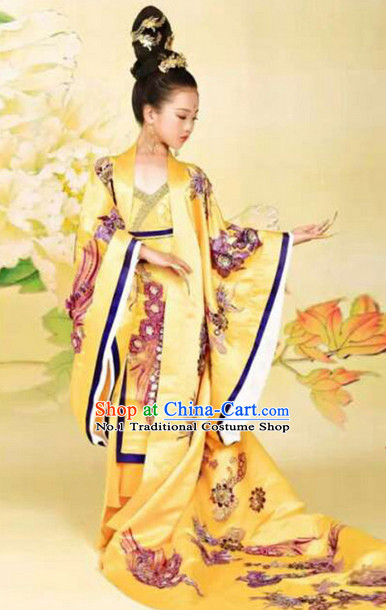 Empress Chinese Kimono Dresses and Hair Jewelry