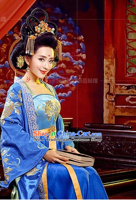 Chinese Empress Kimono Dress and Hair Accessories Complete Set