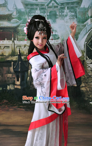 Chinese Princess Kimono Dress and Hair Accessories Complete Set