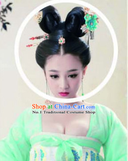 Chinese Traditional Hair Extensions Wig