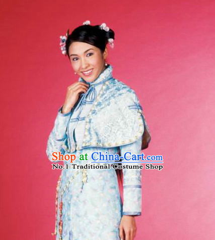 Chinese Princess Plus Size Costumes and Headpieces Complete Set for Women