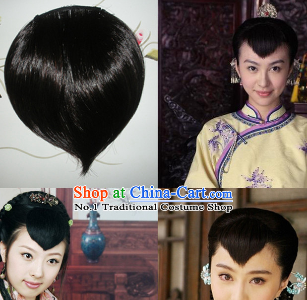 Chinese Minguo Time Hair Extensions Wig