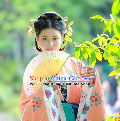 Chinese Traditional Hanfu Wig and Hair Accessories
