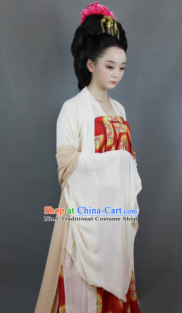 Chinese Tang Suit Hanfu Designer Dresses Plus Size Costumes for Women
