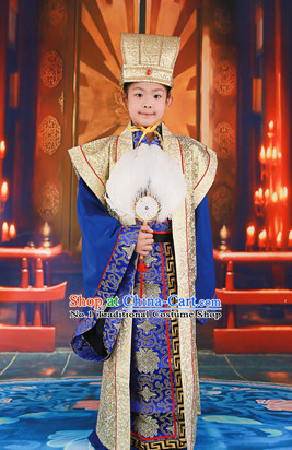 Ancient Chinese Prince Costumes and Hat for Kids