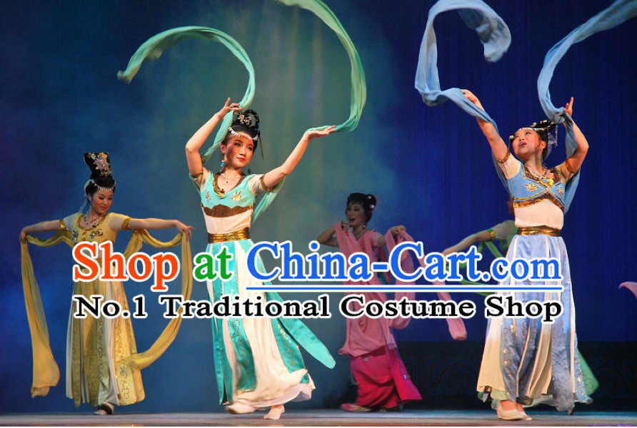 Chinese Classical Fairy Beijing Opera Silk Ribbon Dance Costumes