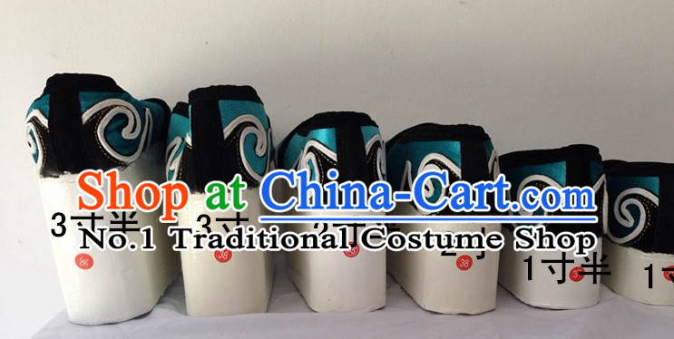 Chinese Opera High Heel Shoes