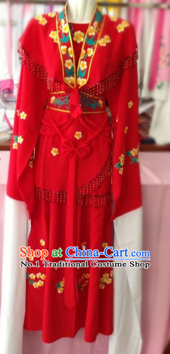 Long Sleeve Chinese Beijing Opera Hua Dan Costumes for Women