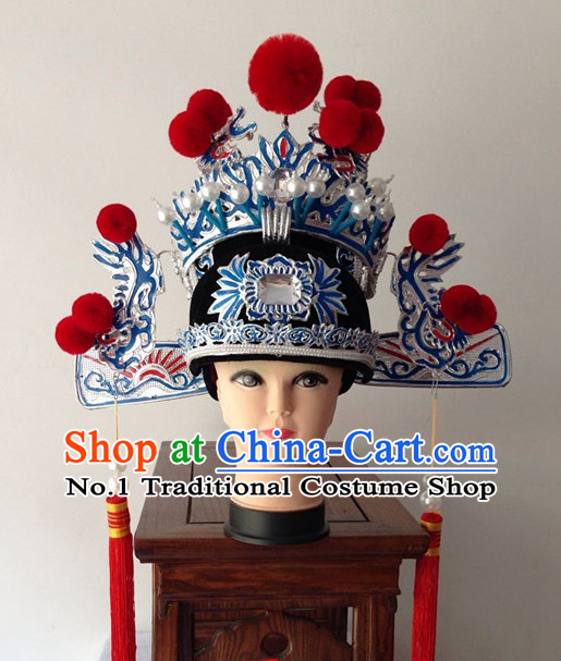 Chinese Handmade Beijing Opera Bridegroom Hat