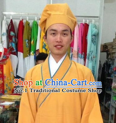 Long Sleeve Chinese Opera Tang Bohu Costume and Hat Complete Set