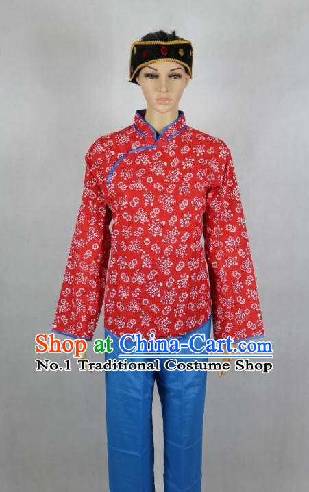 Asian Fashion Chinese Tradiitonal Dress Women Xi Er Poor Girl Costumes
